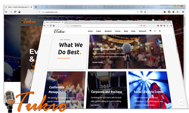 Tukio - Events Planning and Management Website for Sale